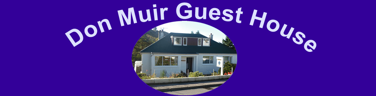 Oban Bed & Breakfast at Don Muir Guest House Argyll Scotland
